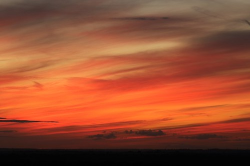 royston sunset evening sky clouds red blue therfieldheath hertfordshire england unitedkingdom uk canoneos750d