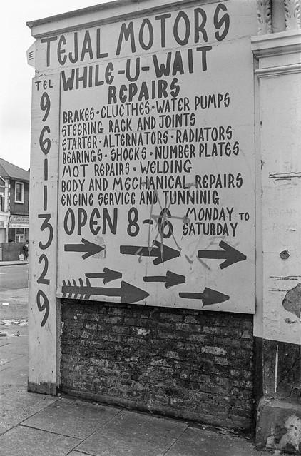 Tejal Motors, High St, Harlesden, Brent, 1988 88-3c-54-positive_2400