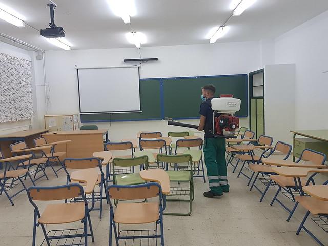 Desinfección de aulas - Los Palacios y Villafranca