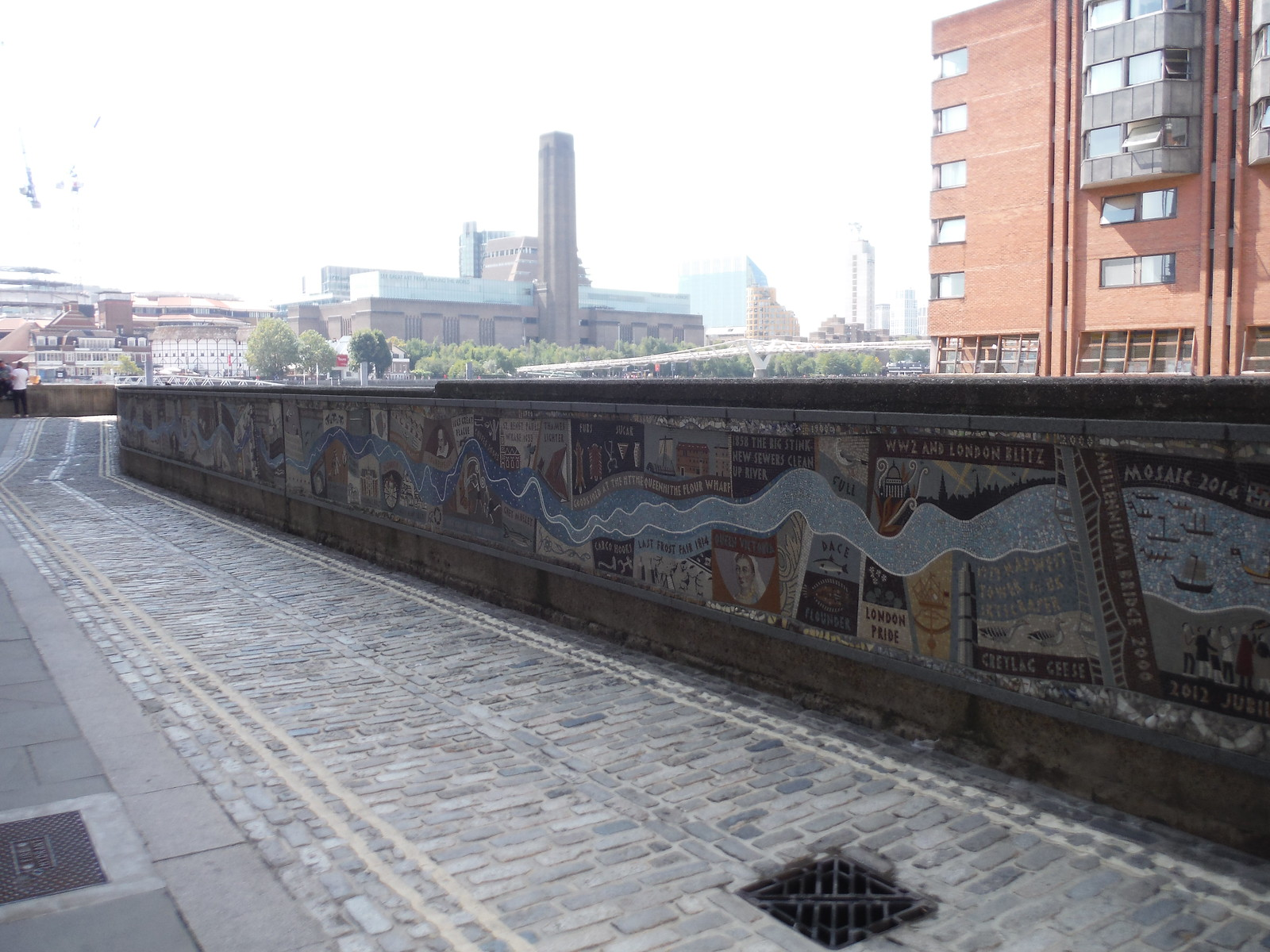 Queenhithe Mosaic SWC Short Walk 47 - The London Wall [Modern Waterfront Circular Walk]