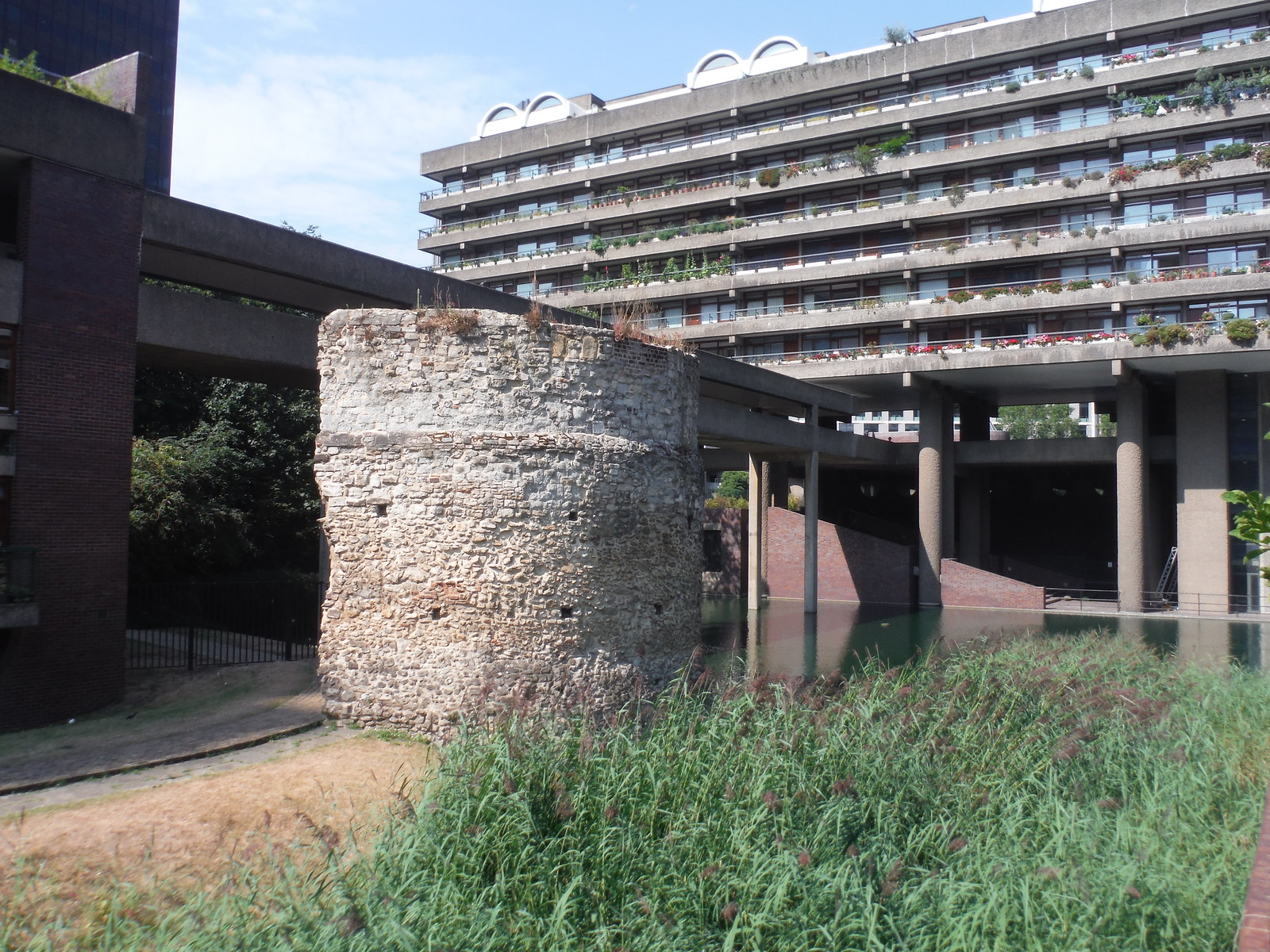Bastion 12 of the London Wall, Barbican Estate SWC Short Walk 47 - The London Wall
