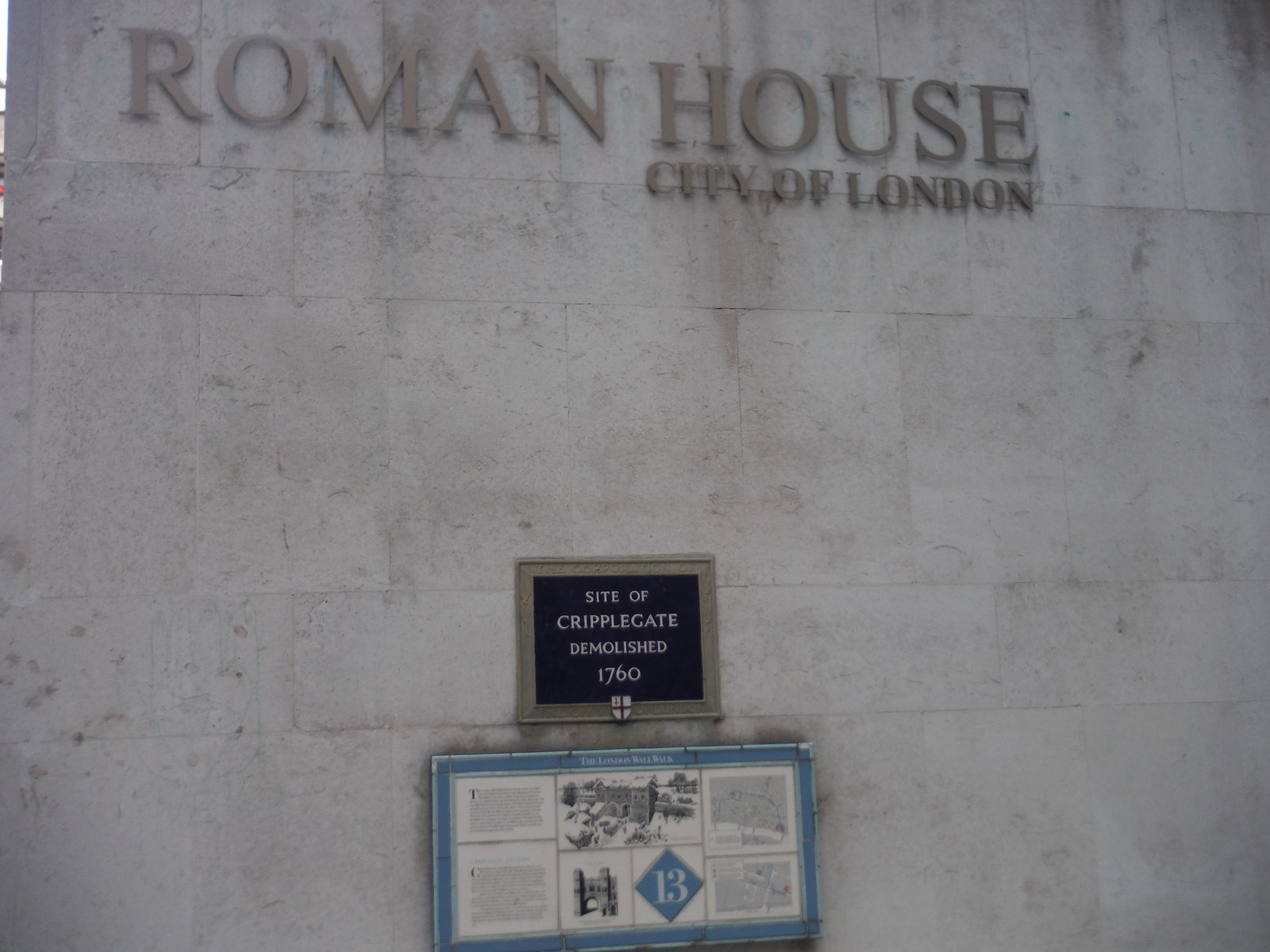 Panels at Roman House, Site of the Cripplegate SWC Short Walk 47 - The London Wall