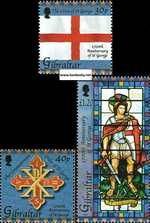 Známky Gibraltar 2003 Svätý Juraj neraz. séria MNH