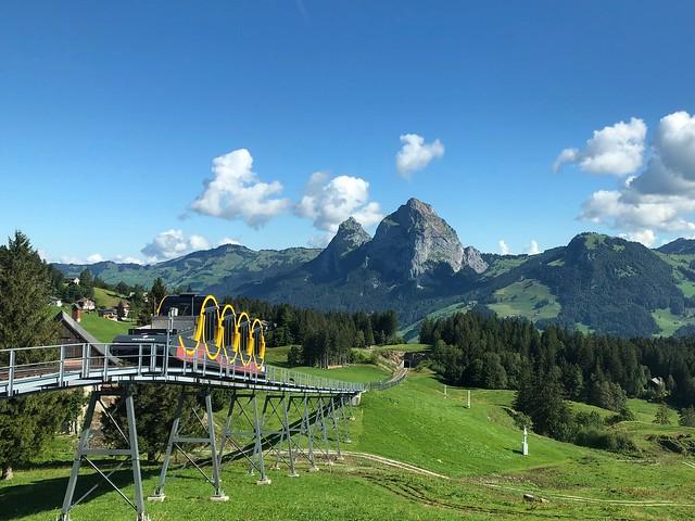Standseilbahn / Funicular Railway Schwyz - Stoos Switzerland