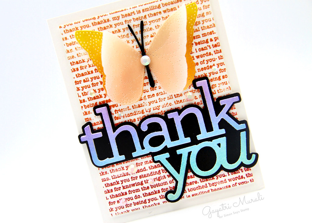 Thank you card closeup