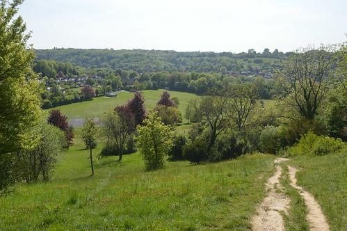 Warlingham view down to Whyteleafe Recreation Ground