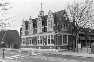 Library, Harrow Rd, West Kilburn, Westminster, 1988  88-3b-33-positive_2400