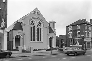 Church of God of Prophecy, High St, Harlesden, Brent, 1988 1988 88-3c-41-positive_2400
