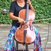Cellist Dace Sultanov, driveway concert, Fort Worth, July 25, 2020