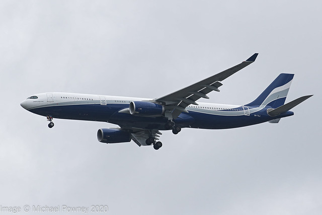 9H-TAJ - 2013 build Airbus A330-343E, on approach to Runway 23R at Manchester