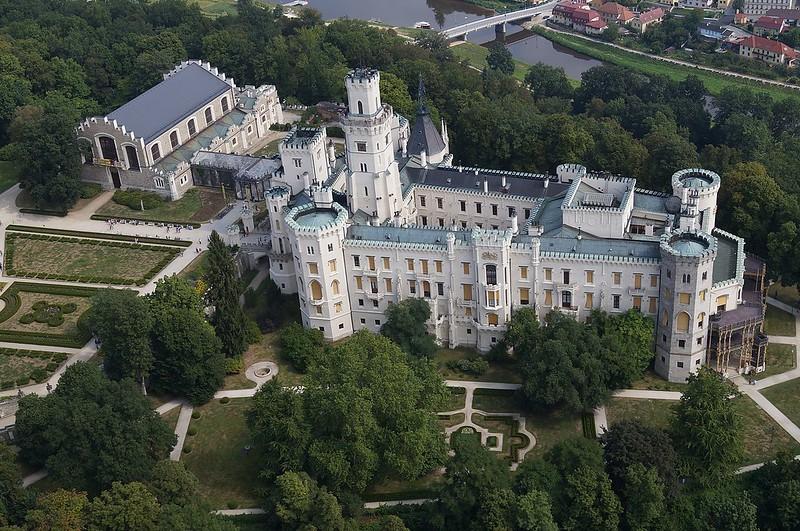 Castillo Hluboká nad Vltavou vista aérea