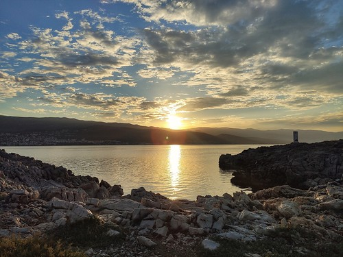 sun sky sea seascape shore stone rocks sunrise down xiaomi phone smartphone landscepe