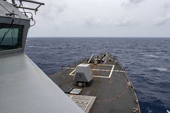 USS Mustin (DDG 89) conducts routine operations in the South China Sea, Aug. 27.  (U.S. Navy/MC3 Cody Beam)