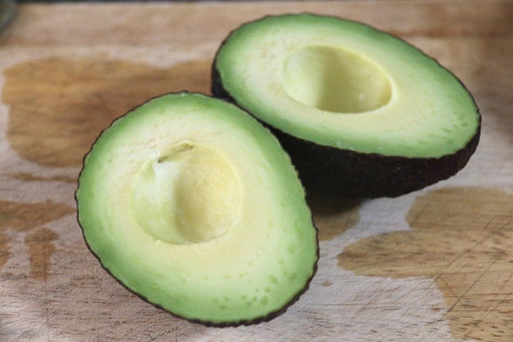 Slice the avocado