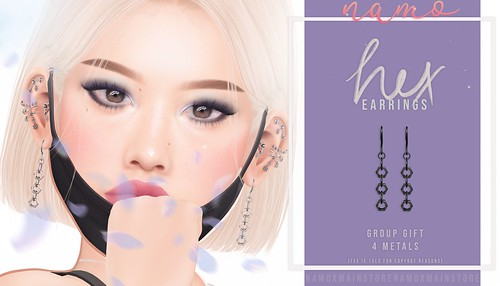 namo. hex earrings (GROUP GIFT)