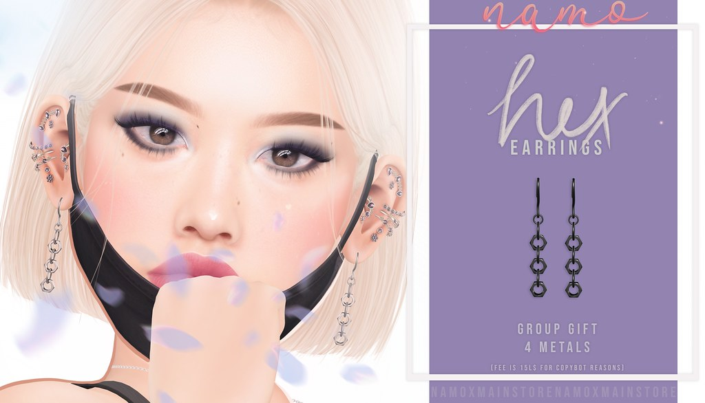 namo. hex earrings (GROUP GIFT)