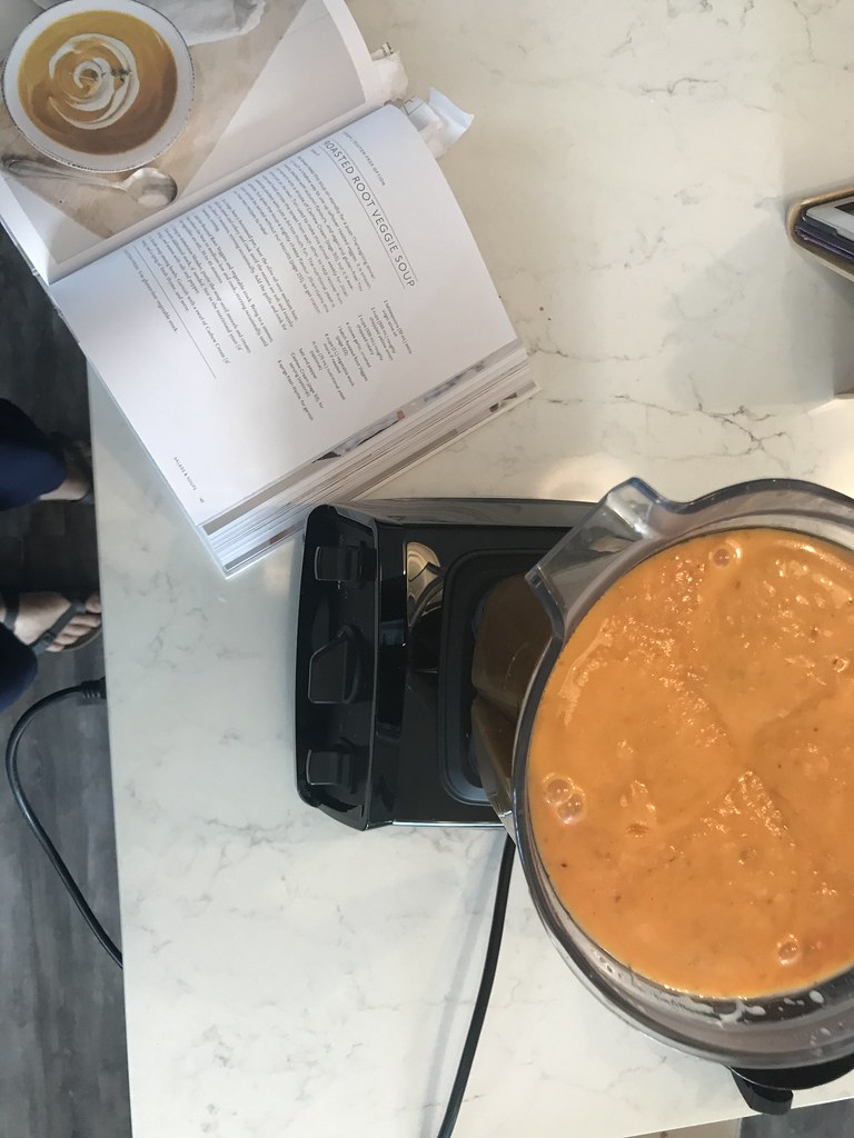 Vitamix with roasted veggie soup