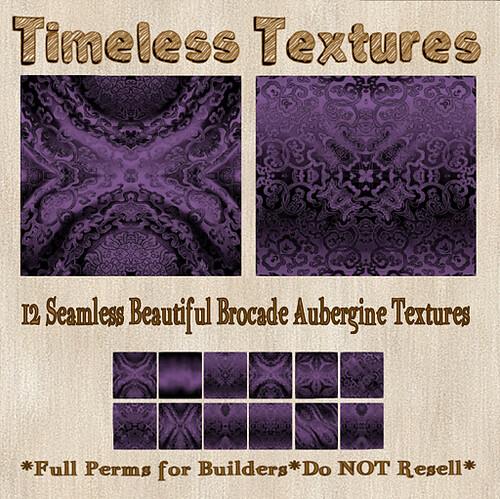 TT 12 Seamless Beautiful Brocade Aubergine Timeless Textures