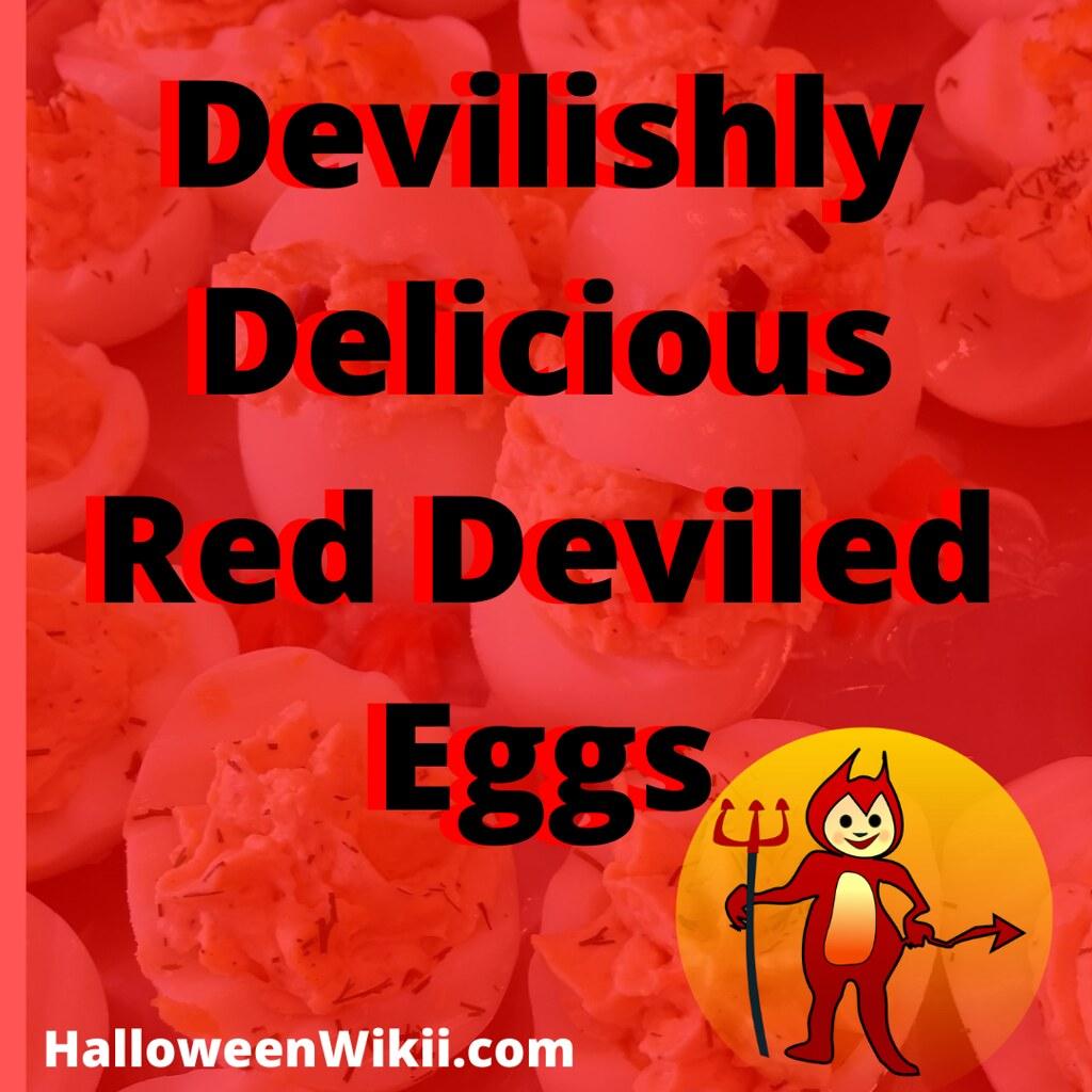Devilishly Delicious Red Deviled Eggs