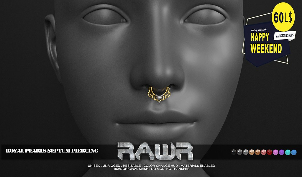 RAWR! Royal Pearls Septum Piercing HW
