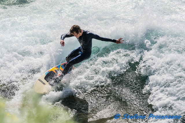 Surfing on the Aare river