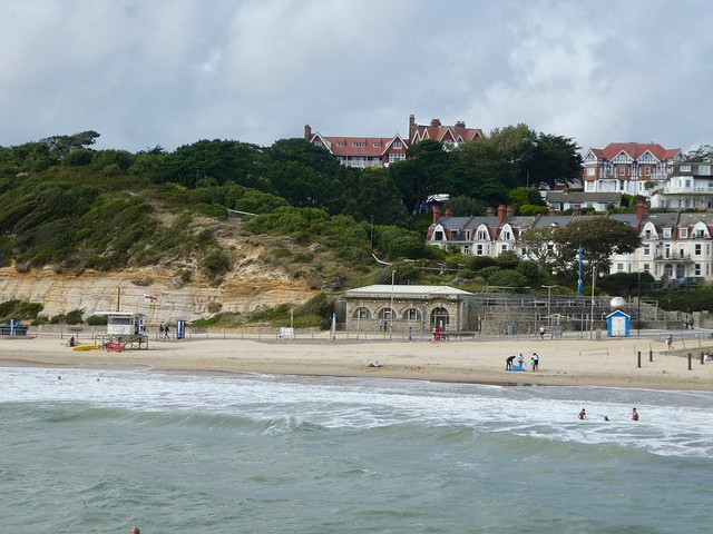 View looking west from Boscombe pier