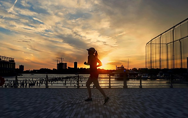 Evening rush (silhouette)  - Chelsea Piers, New York City