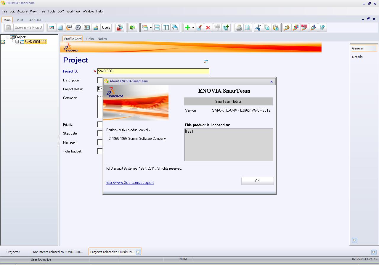 Working with ENOVIA SmarTeam V5-6R2012 full license