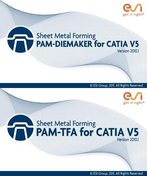 ESI PAM-DIEMAKER 2010.1 & PAM-TFA 2010.1 for CATIA V5 full