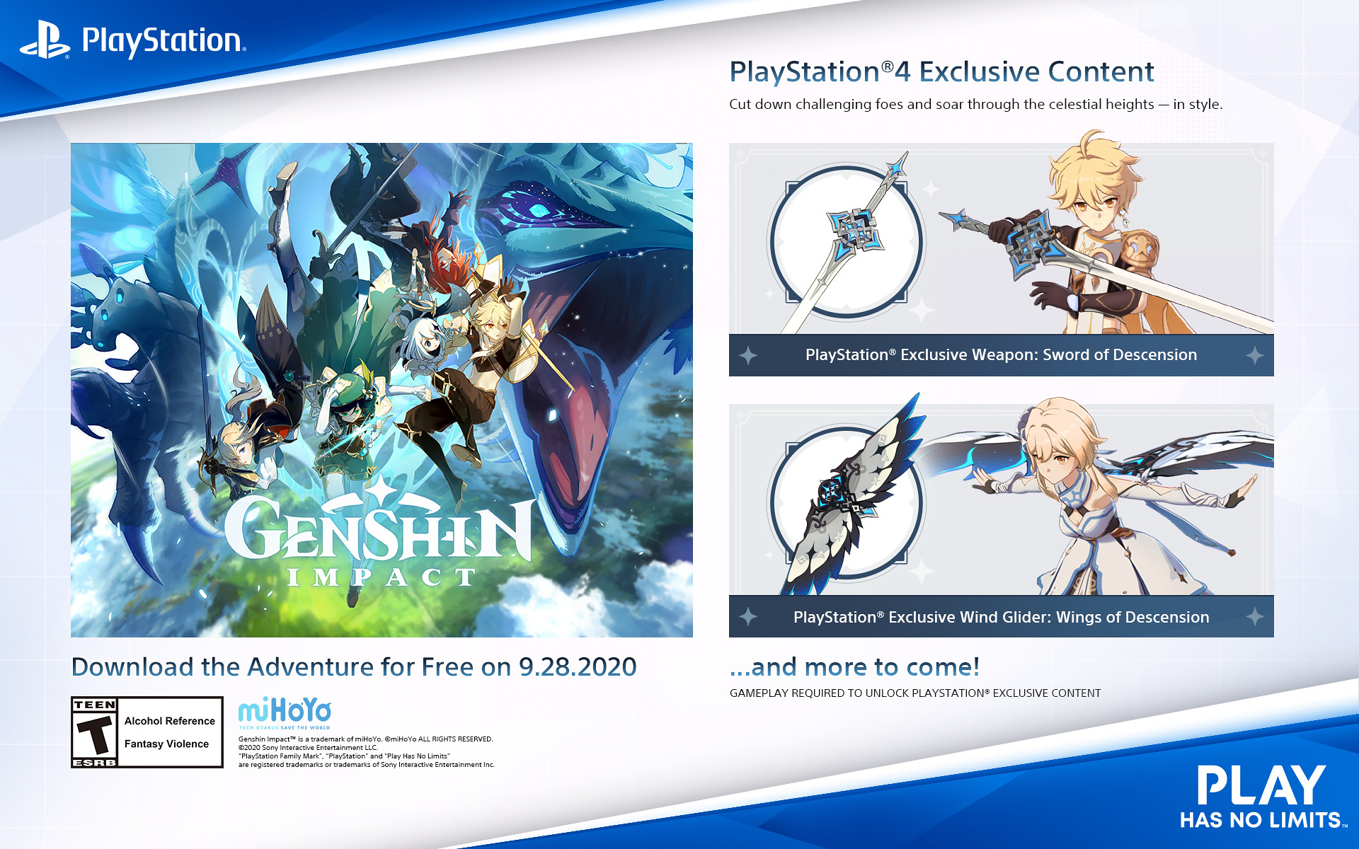 Genshin Impact Hits Ps4 September 28 Bonuses For Pre Orders And Ps Players Detailed Playstation Blog