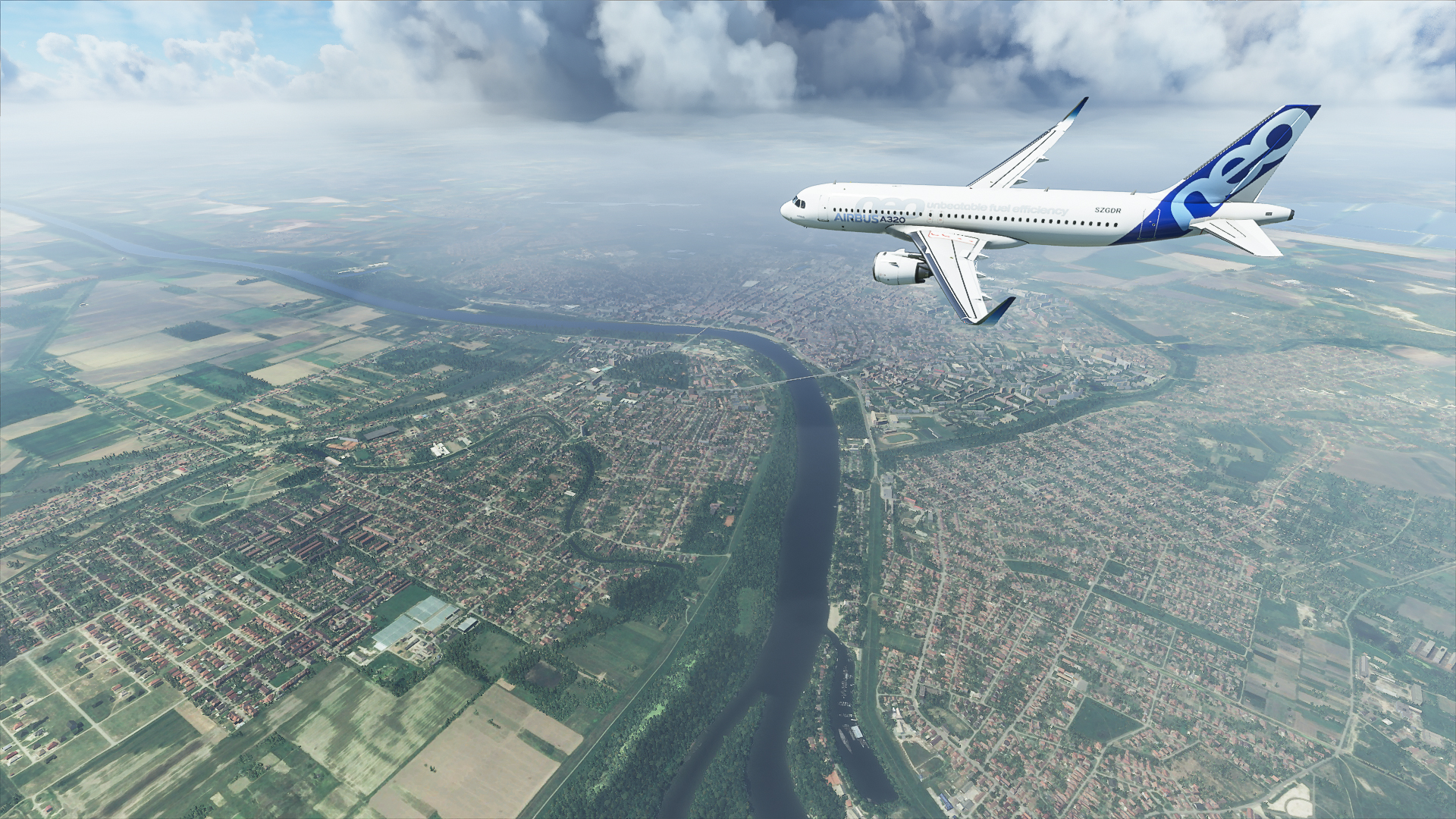 Berepültük Szeged vidékét a Microsoft Flight Simulatorban