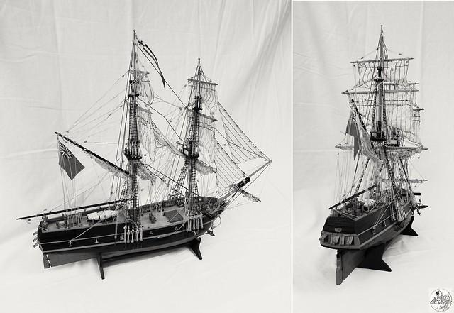 Golden Star - Brig - XVIII century - wooden model 1:100