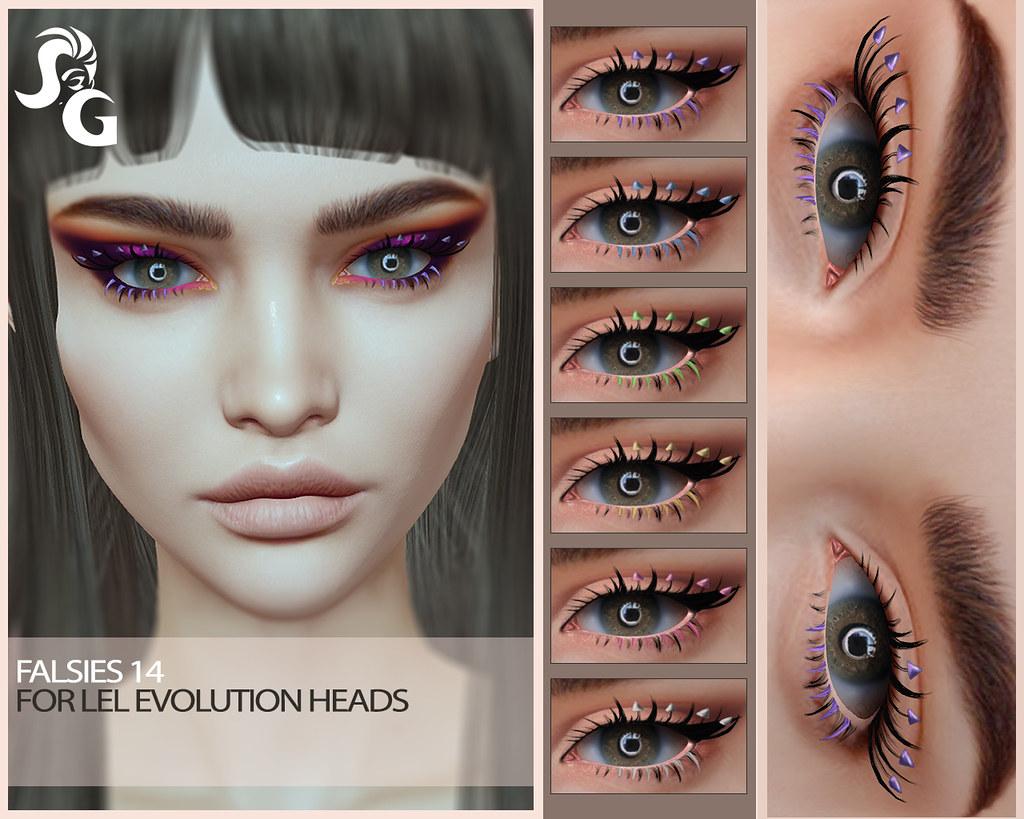 Falsie 14 for Lelutka Evolution Heads @ The MakeOver Room Event