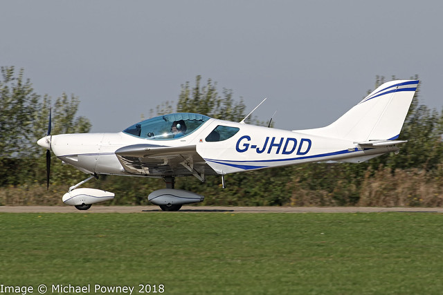 G-JHDD - 2009 build CZAW Sportcruiser, arriving at Sywell during the 2018 LAA Rally