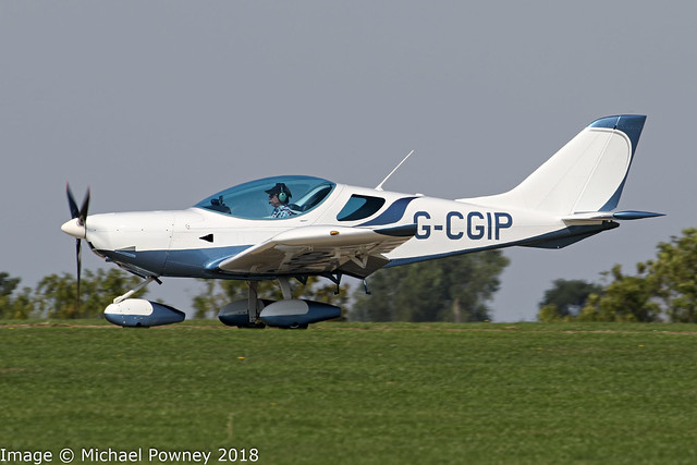 G-CGIP - 2010 build CZAW Sportcruiser, arriving at Sywell during the 2018 LAA Rally