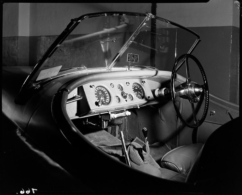 Jaguar with new car radio, Sydney, ca. 1951, by Max Dupain | by State Library of New South Wales collection