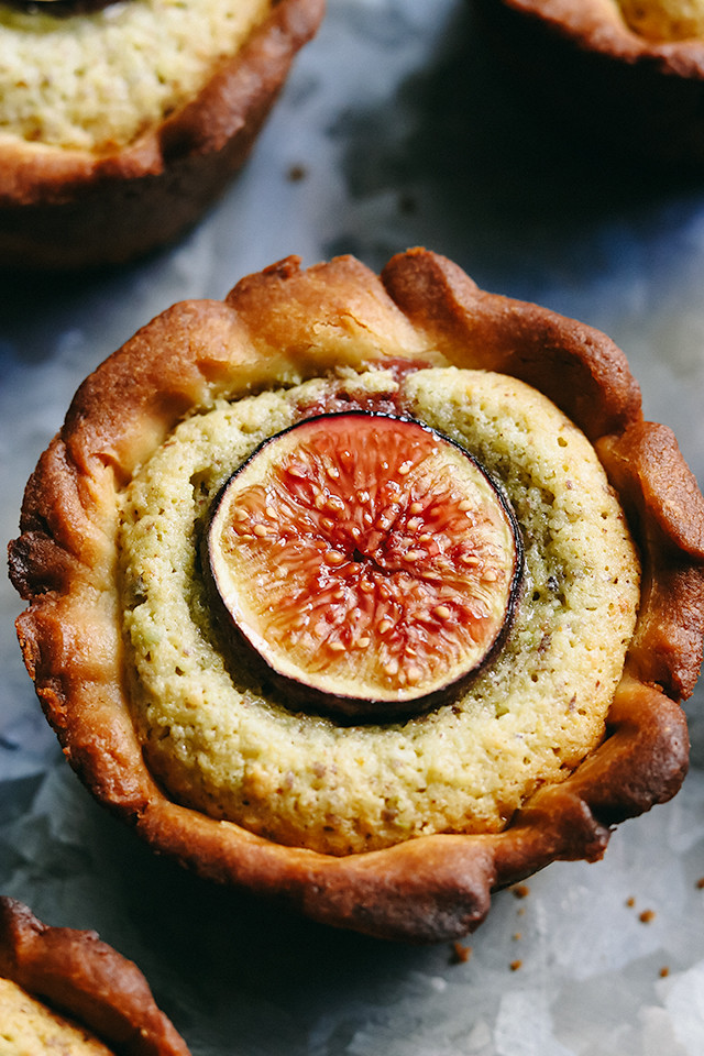Fig and Pistachio Frangipane Tartlets
