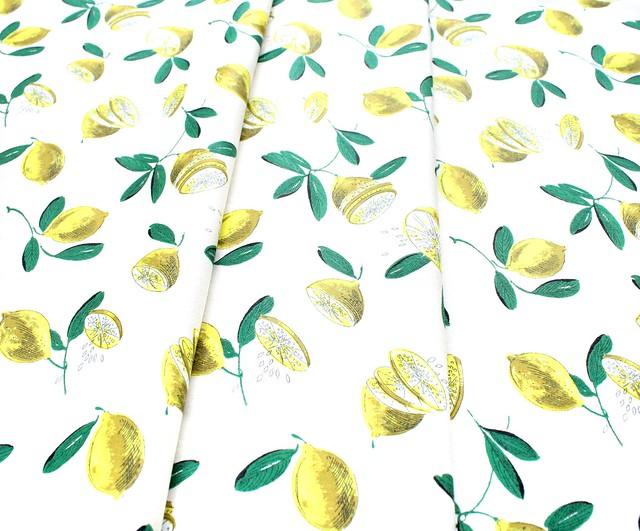 Michael Miller Fabrics Kitschy Cocktails CX8718-CREM-D Lemon Drop