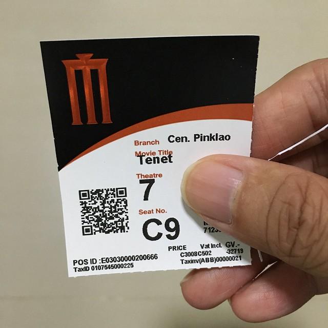 TENET ticket