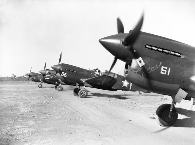P-40Es of the 8th PS, 49th PG at Darwin, 1942