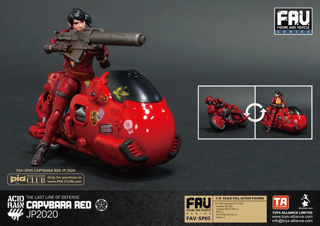 《酸雨戰爭》紅水豚 JP 2020 1/18比例可動人偶&載具組