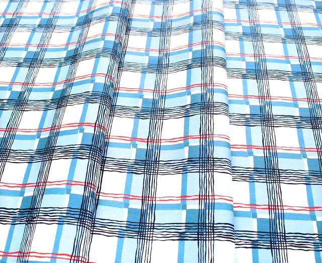 Michael Miller Fabrics Kitschy Cocktails CX8715-BLUE-D Mad About Plaid Blue