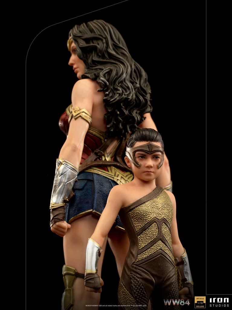 Iron Studios《WW1984》神力女超人&兒時黛安娜 豪華版 1/10比例雕像