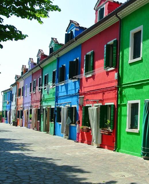 Murano: ses façades de couleurs vives