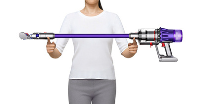 The Dyson Digital Slim vacuum has the same technology features of a Dyson V11 cord-free vacuum, yet it's 20% smaller and 30% lighter.