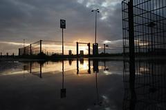 Sunset along IJ, Amsterdam, August 2019