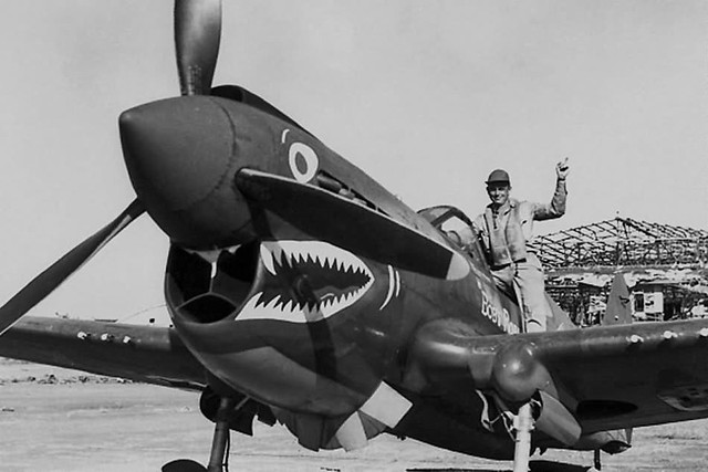 P-40E Warhawk, with Capt Bill Hennon of the 49th Fighter Group