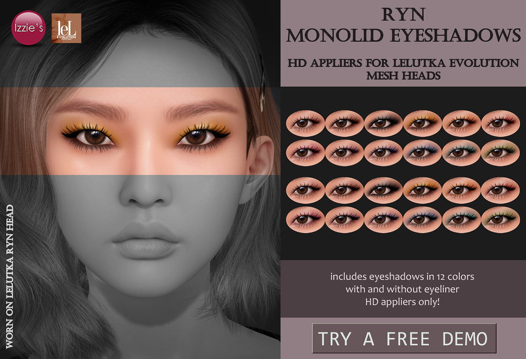 Ryn Monolid Eyeshadows (LeLutka Evolution HD)