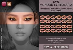 Ryn Monolid Eyeshadows (LeLutka Evolution HD)