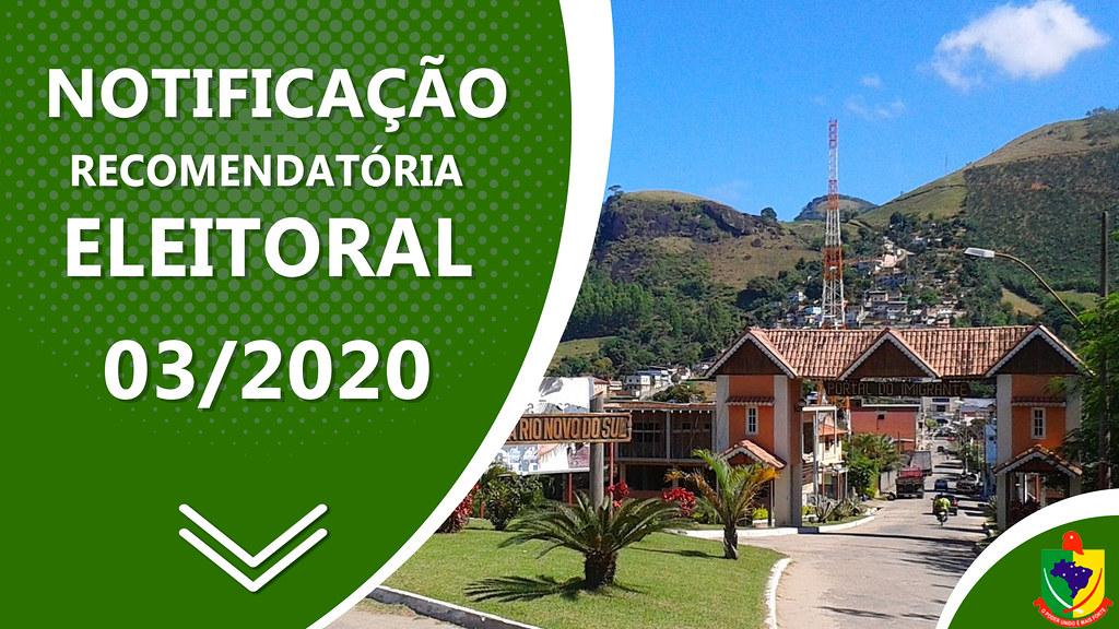 Notificação Recomendatória Eleitoral Nº 03/2020